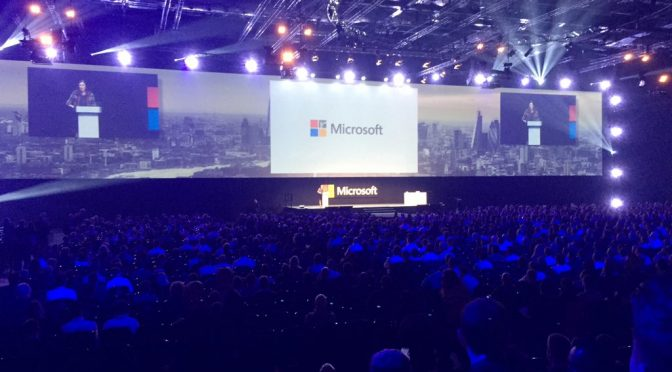 Tweet: #futuredecoded keynote with Cindy Rose, U.K. Micro…